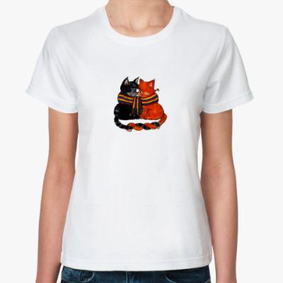 Классическая футболка  Love Cats