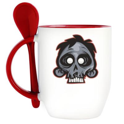 Кружка с ложкой Crazy Monkey