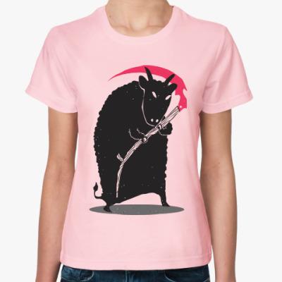Женская футболка Мрачный убийца
