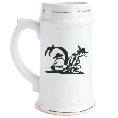 Пивная кружка Два генерала на острове