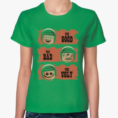 Женская футболка Лего - хороший, плохой, злой