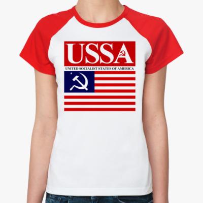 Женская футболка реглан USSA