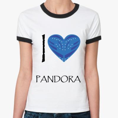Женская футболка Ringer-T I love Pandora
