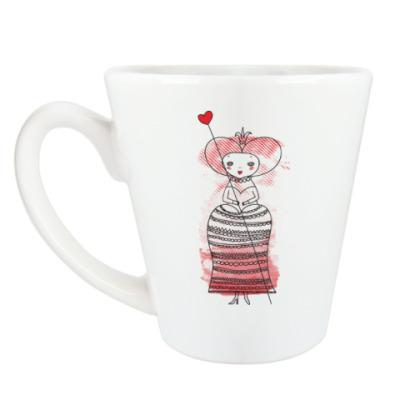 Чашка Латте Queen of Hearts, Alice's Adventures in Wonderland