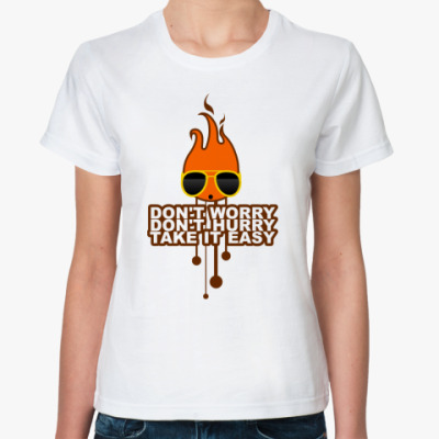 Классическая футболка Don't worry