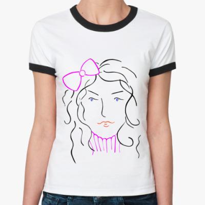 Женская футболка Ringer-T Женское лицо