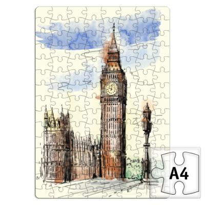 Пазл Биг-Бен -Big Ben-Англия-Лондон