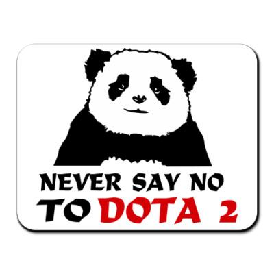 Коврик для мыши  Never say no to dota 2