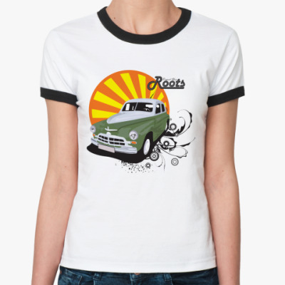 Женская футболка Ringer-T  Roots Art New