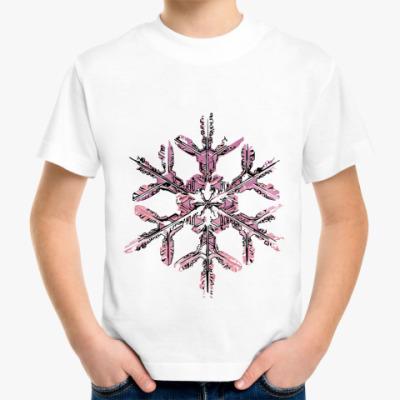 Детская футболка снежинка