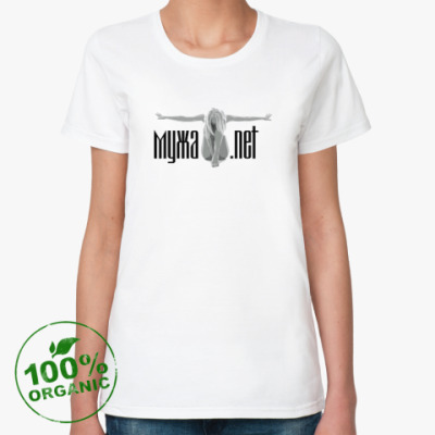 Женская футболка из органик-хлопка МУЖА.NET