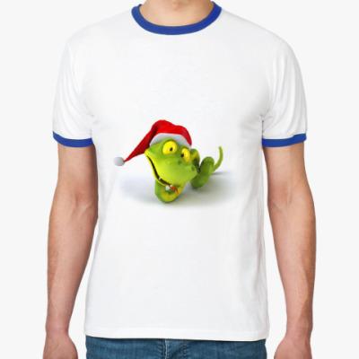Футболка Ringer-T Зеленая змея