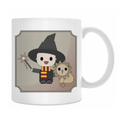 Little wizard and his pet