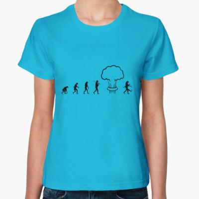 Женская футболка Женская футболка Fruit of the Loom, ультрамарин