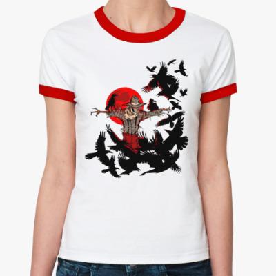 Женская футболка Ringer-T Пугало  Ж()