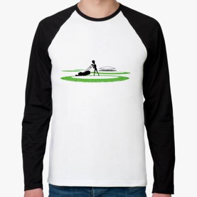 Футболка реглан с длинным рукавом Круги на полях