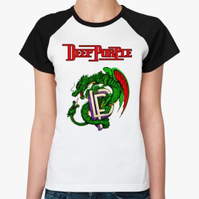 Женская футболка реглан Deep Purple