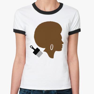 Женская футболка Ringer-T Afro Lady