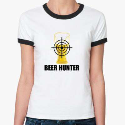 Женская футболка Ringer-T Beer Hunter