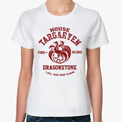 Классическая футболка Игра престолов.Таргариены