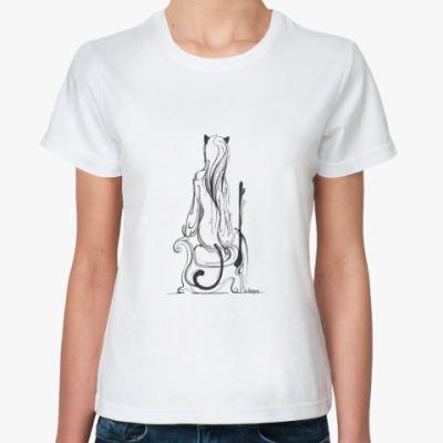 Классическая футболка Неко