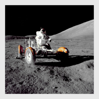 Постер Космонавт на ровере на Луне