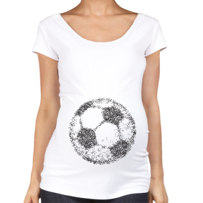 Футболка для беременных футбол