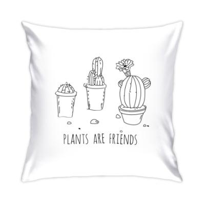 Подушка Plants are friends