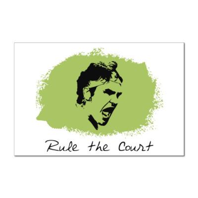 Наклейка (стикер) Федерер - Управляй кортом