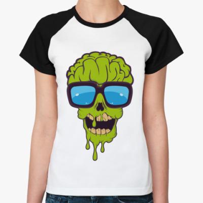 Женская футболка реглан   Зомби