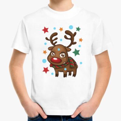Детская футболка Олень со звёздами