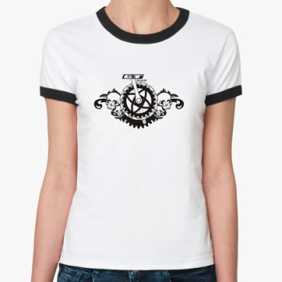 Женская футболка Ringer-T  для велосипедистов