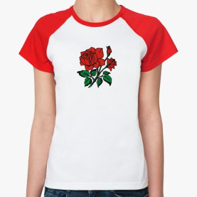 Женская футболка реглан Для Любимой!