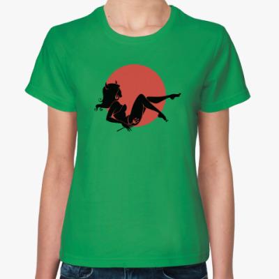 Женская футболка Ведьма, полнолуние