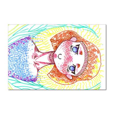 Наклейка (стикер) Девочка