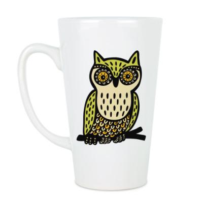 Чашка Латте Сова