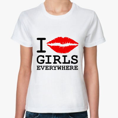 Классическая футболка GIRLS EVERYWHERE