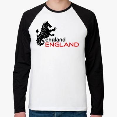 Футболка реглан с длинным рукавом Толстовка Англия