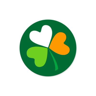 Виниловые наклейки Ирландский клевер