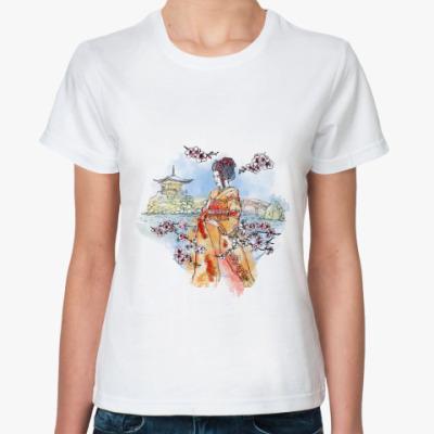 Классическая футболка Япония - сакура