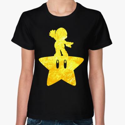 Женская футболка Звезда и Марио