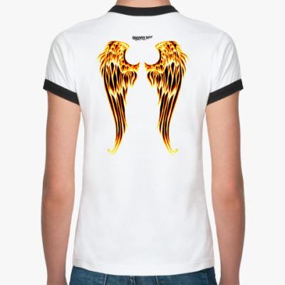 Женская футболка Ringer-T ангельские крылья