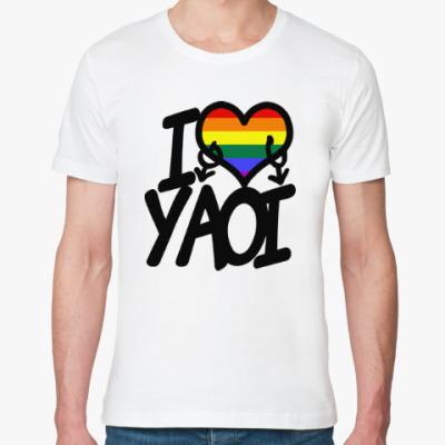 Футболка из органик-хлопка I love yaoi (Boys' Love)