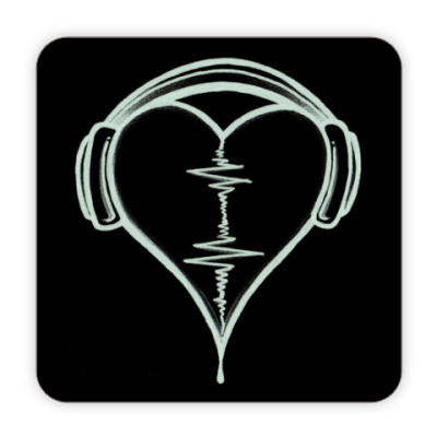 Костер (подставка под кружку) Сердце