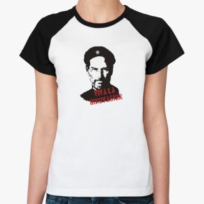 Женская футболка реглан Джобс