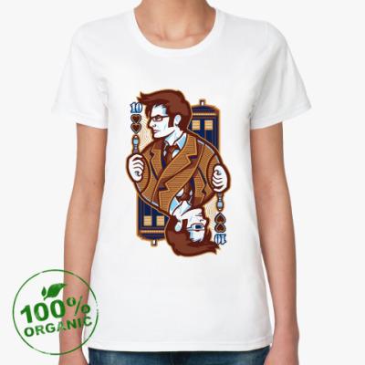 Женская футболка из органик-хлопка Десятый Доктор