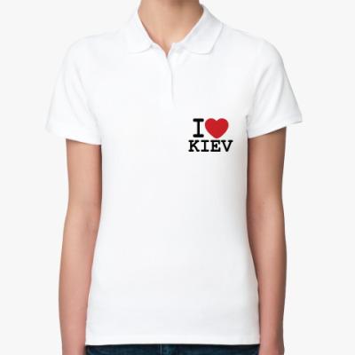 Женская рубашка поло I Love Kiev