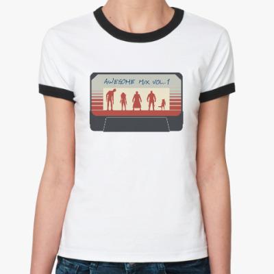 Женская футболка Ringer-T Стражи галактики - кассета