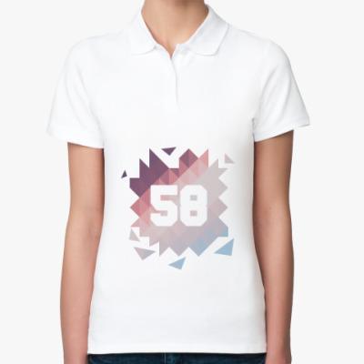 Женская рубашка поло Цифра 58 (Low Poly)