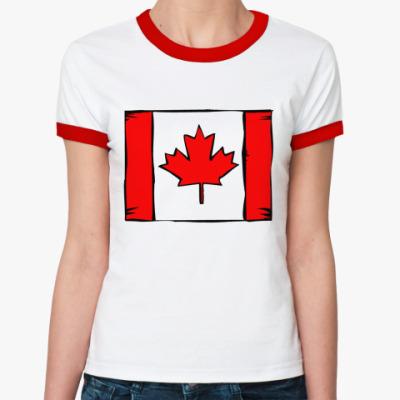Женская футболка Ringer-T Канада